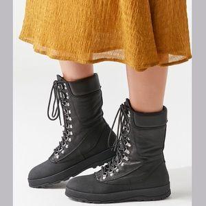 🆕NIB Dolls Kill Black Leather Combat Boots